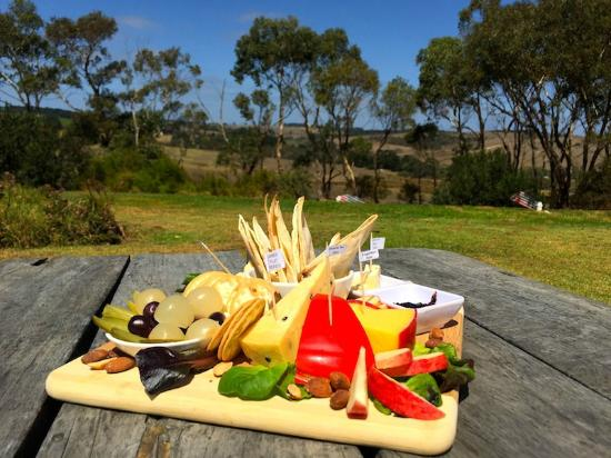 Mount Compass, Australia: the $26 cheese platter. fantastic!!!