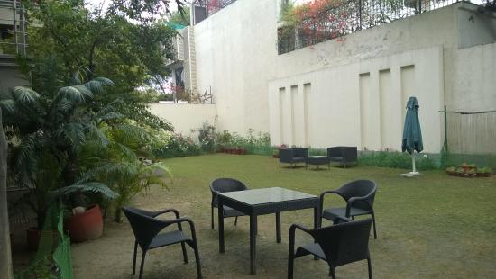 76 Friends Colony : A little courtyard that may be used by the guests