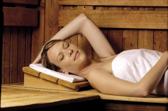 Les Résidences Spa de Rockroum : Sauna