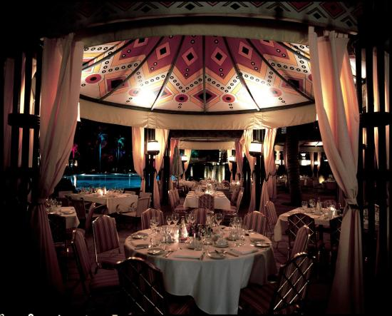 The Palace of the Lost City: Palace Pool Deck Restaurant at Night