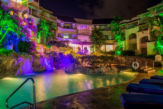 Bougainvillea Beach Resort: Pool_by_Night