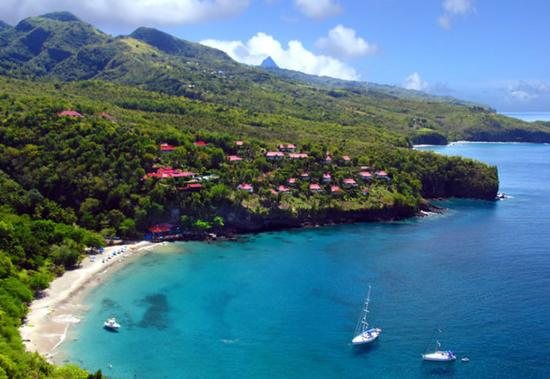 View from restaurant above the beach - Picture of Ti Kaye Resort ...