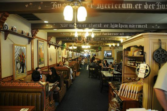 The inside décor looks like a german hofbrau picture of