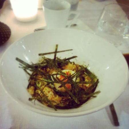 Midori: Ochazuke de cogumelos e ovo a baixa temperatura