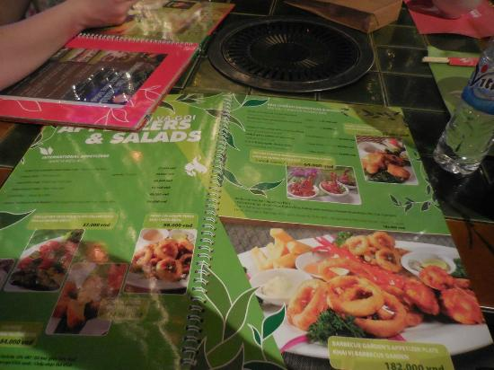 Menu - Picture of Barbecue Garden Restaurant, Ho Chi Minh City ...