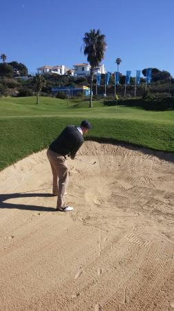 Cabopino Golf Marbella: Only took three shots to get out!