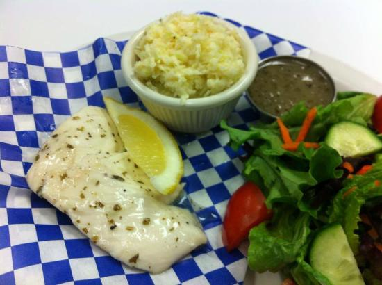Beamsville Fish and Chips: 1pc Poached Halibut ~ Gluten Free!!