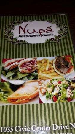 Nupa Mediterranean Cuisine: Nupa menu