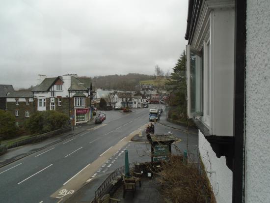 Ellerthwaite Lodge: View of windermere village from first floor lounge.