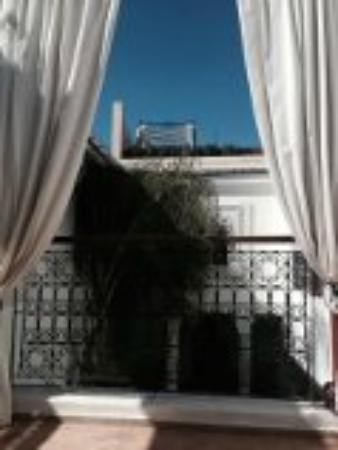 Bellamane, Ryad & Spa: Blick von Privat Terasse