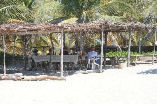 Laguna de Manialtepec: Juanita's palapa on the Pacific Ocean - great meal!