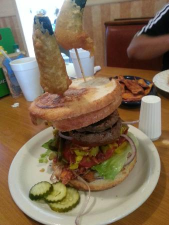 Nauti Nancy's: Nauti Nauti Burger. More than enough for two!