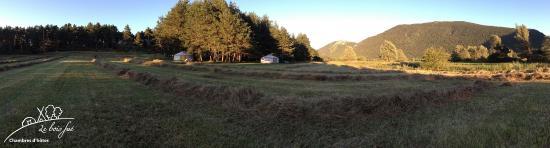Le Bois Fae : vue sur le jardin du bois faé