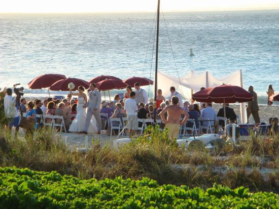 Royal West Indies Resort: Even had a wedding on the beach at the end of the day