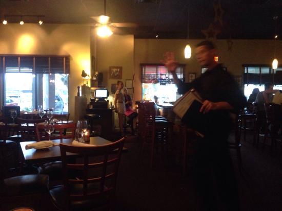 Izzy's Bistro: Friendly waiter at Izzy's.