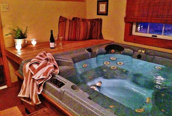 West Halifax, VT: Indoor Hot tub