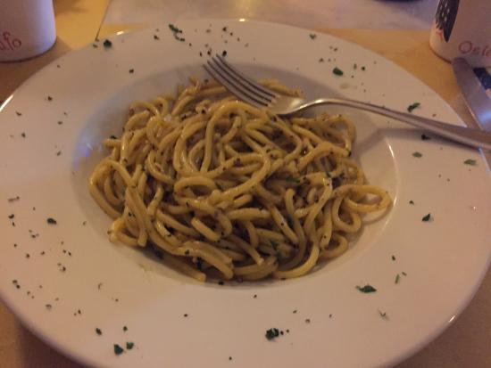 Osteria Il Gufo: 黑松露意麵(spagett con tartufo nero)