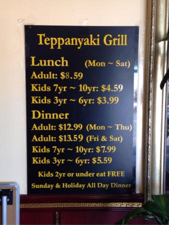 Wondrous Price List Picture Of Teppanyaki Grill Supreme Buffet Download Free Architecture Designs Itiscsunscenecom