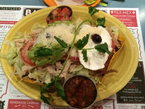Barnaby's Cafe: Smoked Chicken Tostadas