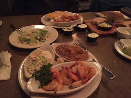 Triple J Steaks Seafood Grilled Shrimp Sweet Potato Soufflé