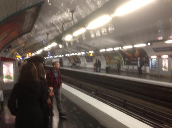 Rambuteau station on the Metro in Paris - Picture of Paris Metro ...