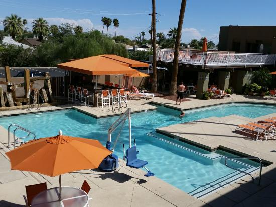 Pool and sundeck view from 2nd floor!