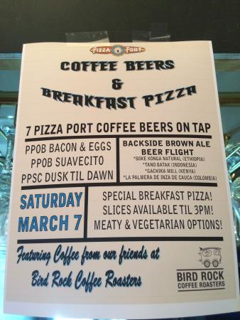 Pizza Port Ocean Beach : They hold many special events with tasty brews and food.