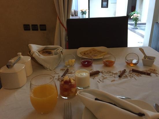 Riad Pourpre Medina: Le petit déjeuner
