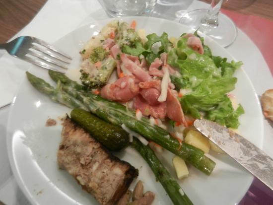 Campanile Metz Sud - Jouy Aux Arches : assiette du buffet des entrées