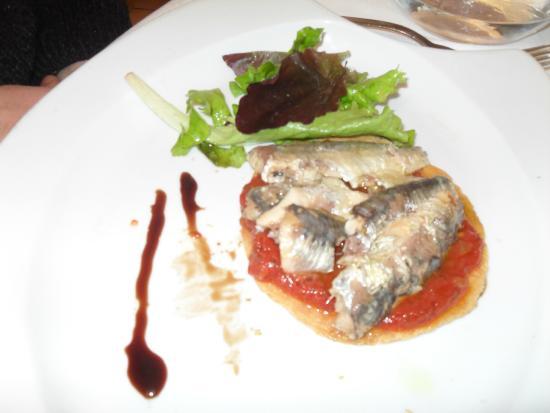 Le Pistou : Entrée toast aux sardines