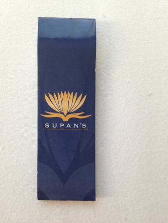 Supan's Restaurant : toothpicks
