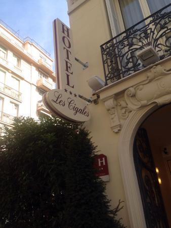 Hotel les Cigales: Entrée de l'hôtel