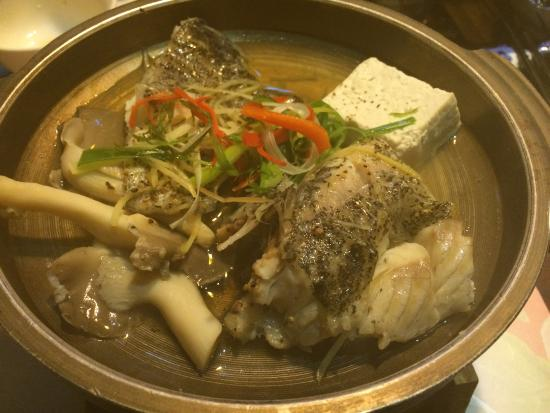 Dazhou Yuliao: 石班魚:蒸的(我寫錯,不是烤的)