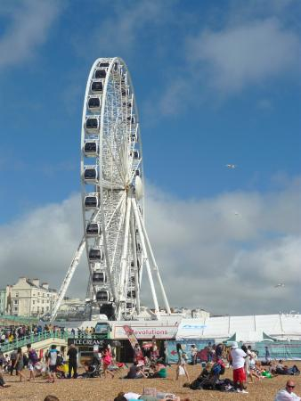 The Brighton Wheel at the Beach
