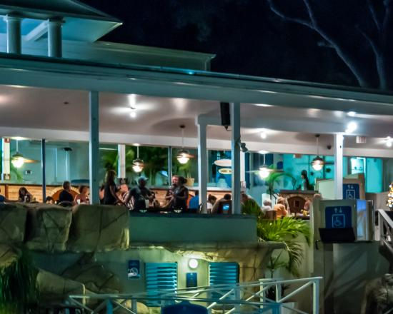 South Coast, Saint Thomas: Cabana Bar at Night on Bluebeard's Hill