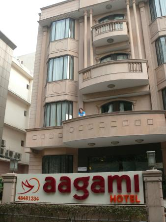 Aagami Hotel: the big balcony on the first floor