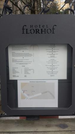 Hotel Florhof: Menu