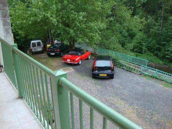 Le Moulin d'Olt : La vue depuis la petite coursive.