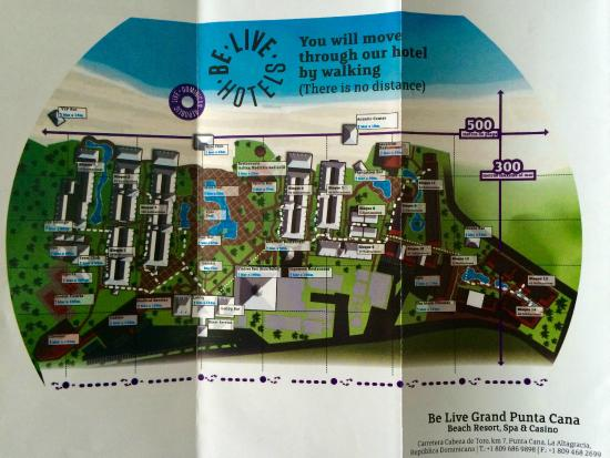 Resort Map Picture Of Be Live Collection Punta Cana Tripadvisor