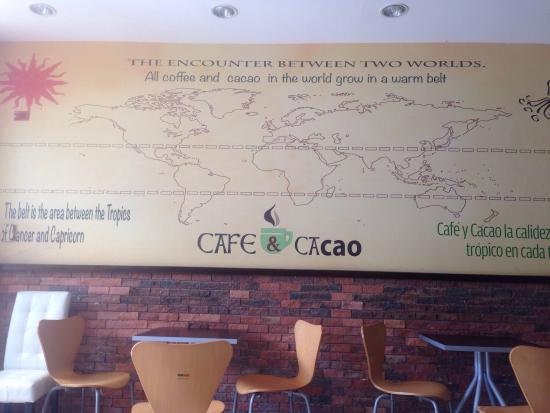 Cafe & Cacao: This place has a great atmosphere to relax