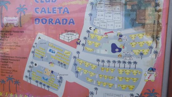 Plan of the complex picture of caleta dorada caleta de for Apartment complex map maker