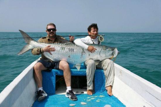 Holbox Tarpon Club: Big fish!