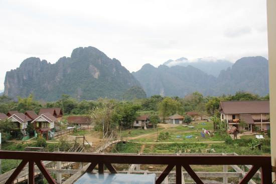 Vang Vieng Orchid Guesthouse: blick vom balkon
