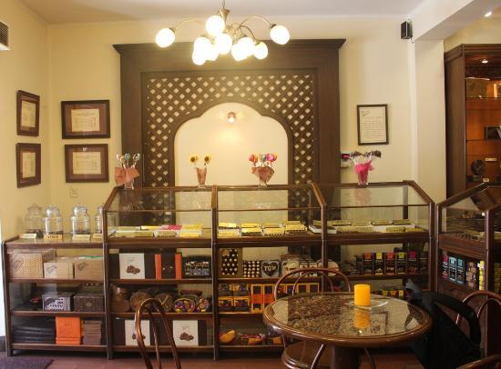 Para Ti Chocolates: Interior da loja