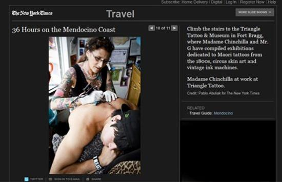 Triangle Tattoo and Museum: Triangle Tattoo in the NY times