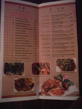 Menu picture of judy 39 s sichuan cuisine virginia beach for 328 chinese cuisine menu