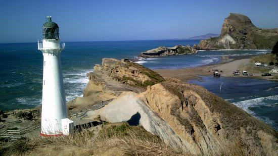 Castlepoint Holiday Park and Motels: Castlepoint lighthouse and the famous rock