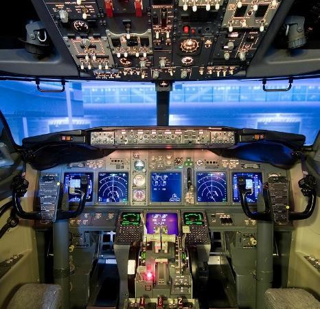 737 full cockpit flight simulator picture of sky simulator