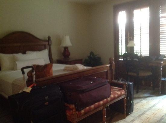 Our room at The Inn at Henderson's Wharf Each room overlooks the garden