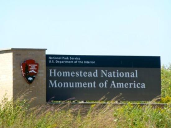 Homestead National Monument of America: Homestead National Monument Entrance Sign